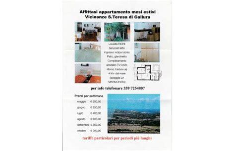 appartamenti santa teresa di gallura da privati privato vende appartamento affitto appart mesi estivi