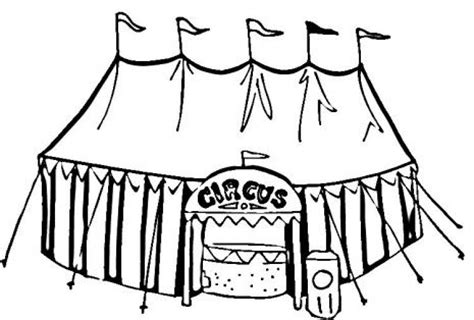 circus tent coloring page art craft pinterest