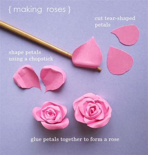 How To Make Arose Out Of Paper - momichka tutorial paper roses and even paper leaves