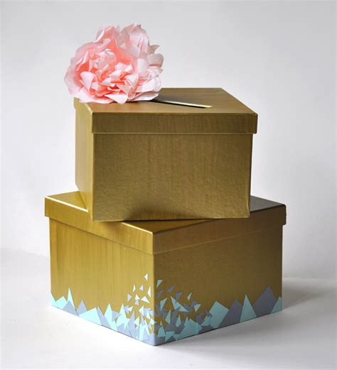 how to make a wedding card box with paint make a wedding card box