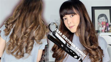 tutorial catok rambut curly tutorial keriting rambut dengan catokan lurus how i curl
