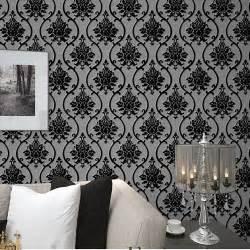 damask wallpaper home decor popular black velvet wallpaper buy cheap black velvet