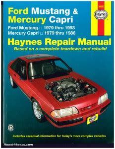 car engine repair manual 1992 mercury capri electronic throttle control haynes ford mustang 1979 1993 mercury capri 1979 1986 auto repair manual