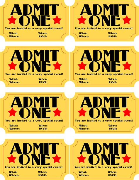 free printable movie tickets invitations free printable invitation movie ticket stub frugalful com