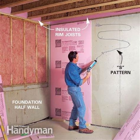 how to insulate basement walls properly how to finish a basement framing and insulating the family handyman