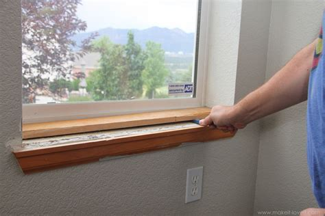 What To Put On A Window Sill Home Improvement Trimming A Window Replacing The Sill