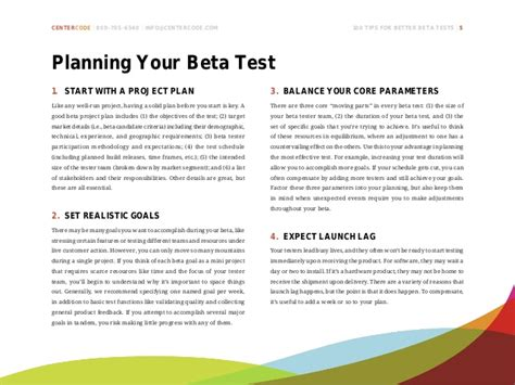 100 tips for better beta tests