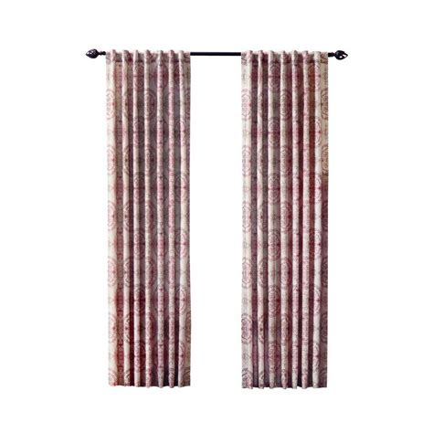curtain cost home decorators collection semi opaque spice filigree back