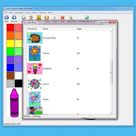 coloring book software reveal calls software callwall radiopro