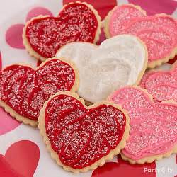 heart cookies idea valentines day baking party ideas