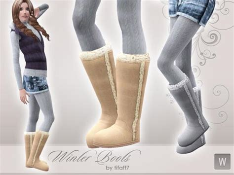 Sims 2 Rugs Empire Sims 3 Winter Boots Ya A Teen By Tifaff7 Tsr Free