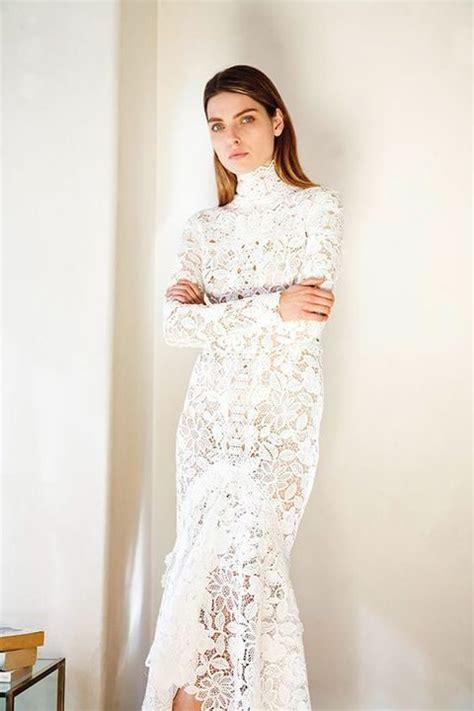 mock designer wedding dresses turtleneck wedding dresses for modest brides happywedd