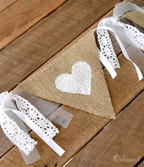 Wedding Banner Burlap by Rustic Lace Hessian Burlap Wedding Bunting Banner Bridal