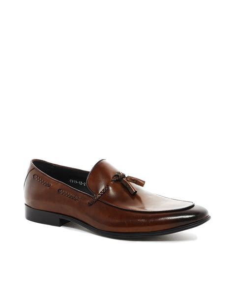 dune tassel loafers dune tassel loafers in brown for lyst