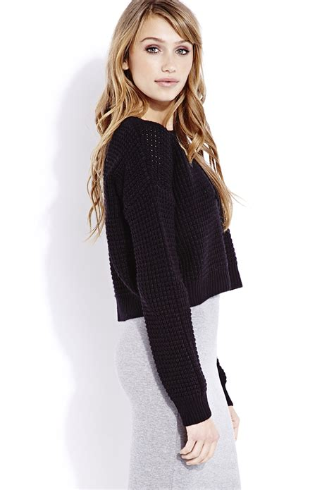 Sweater Proline 2 Zalfa Clothing forever 21 cozy cropped sweater in black lyst