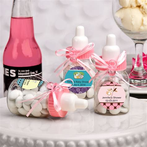Bottle Baby Shower Favors by 100 Personalized Pink Baby Bottle Baby Shower Favors Ebay