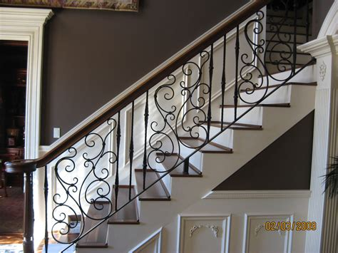 metal stair rails and banisters pretty swirly wrought iron stair railing for the home