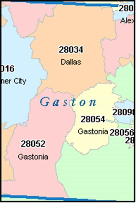 Zip Code Map Gastonia Nc | gaston county north carolina digital zip code map