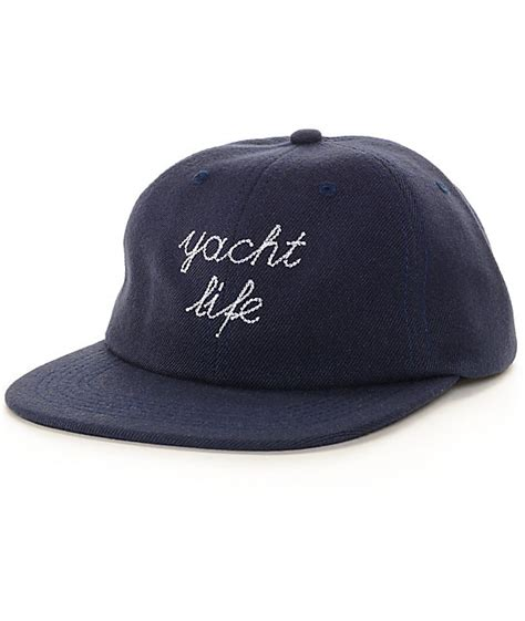 asphalt yacht club yacht life unstructured navy snapback hat
