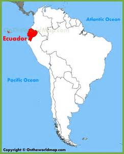 map of ecuador south america ecuador location on the south america map