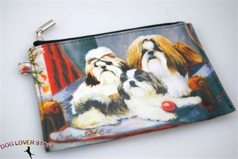 shih tzu purse shih tzu bag zippered pouch travel makeup coin purse ebay
