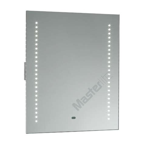 Led Bathroom Mirror With Shaver Socket Saxby 13759 Spegal Sensor Ip44 Led Bathroom Mirror With Shaver Socket
