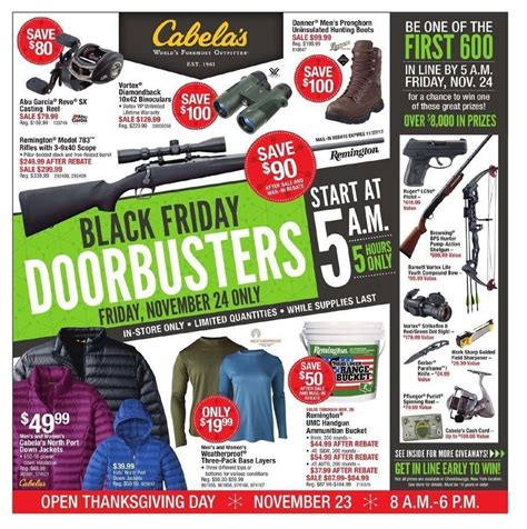 Cabelas Giveaway 2017 - cabela s 2017 black friday ad frugal buzz