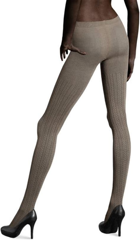 cable knit tights h m cable knit tights in gray mole lyst