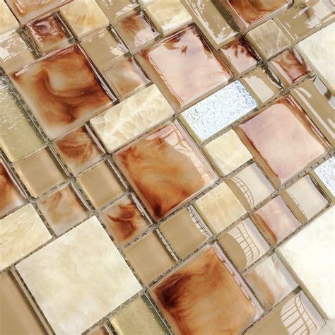 glass mosaic wall tile kitchen backsplash