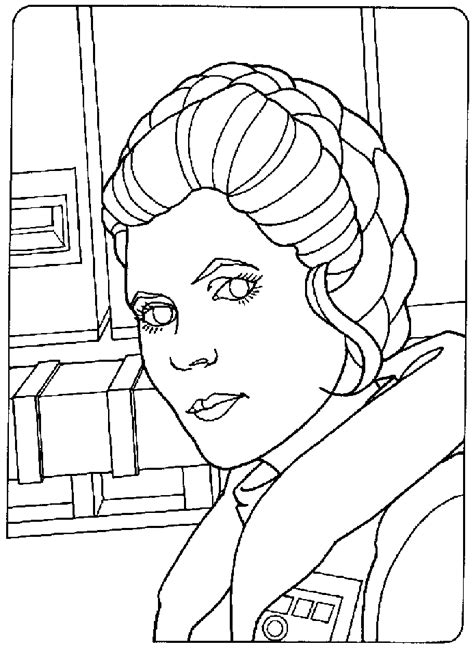 Princess Leia Coloring Page Coloring Home Princess Leia Coloring Printable