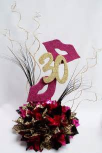 30th birthday centerpiece with leopard and smoochy lips