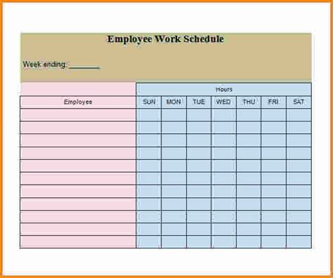 employee schedule template 4 employee work schedule template authorization letter