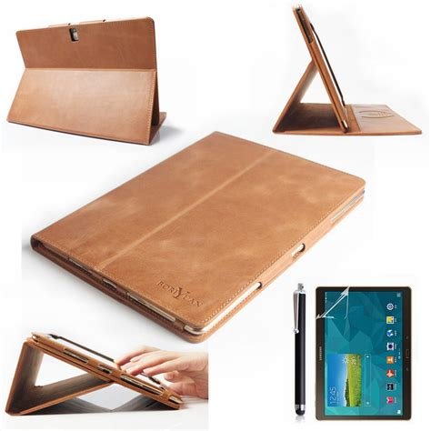 Flip Cover Tab Advan E1c luxury genuine flip leather cover for samsung galaxy tab s 10 5 sm t800 tablet stander with