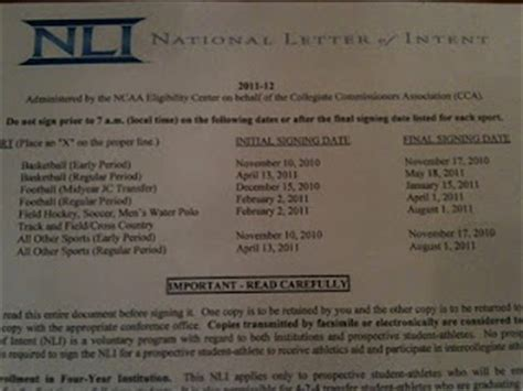 Verbal Commitment Vs Letter Of Intent high school football america january 2012