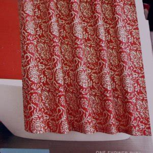 red shower curtains fabric target home red jacobean floral fabric shower curtain