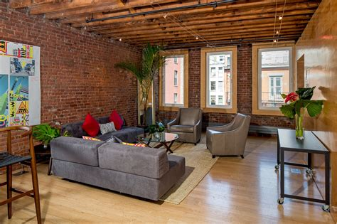6 Foot Kitchen Island exposed brick abounds in this full floor soho loft renting