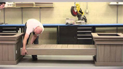 azek bench azek bench and planter kit youtube