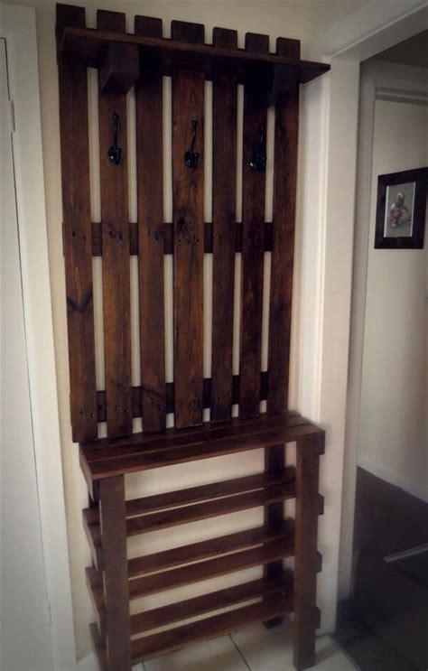 wall shoe rack diy pallet wall hanger and shoe rack unit pallet furniture diy