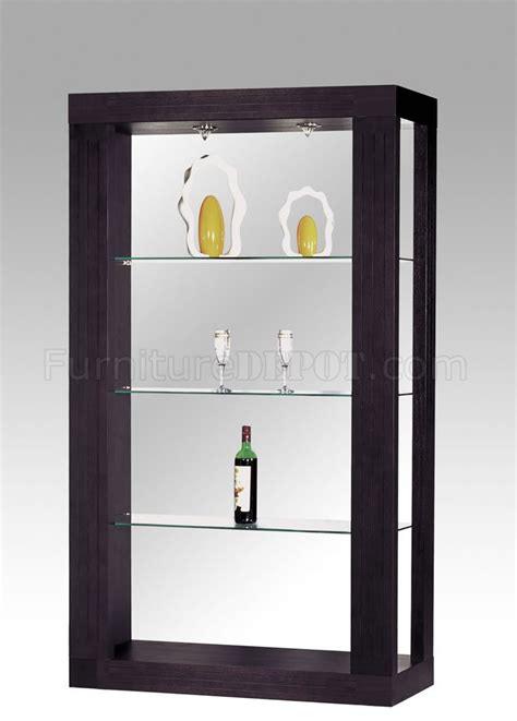 modern display cabinets modern wenge finish display cabinet with 3 glass shelves