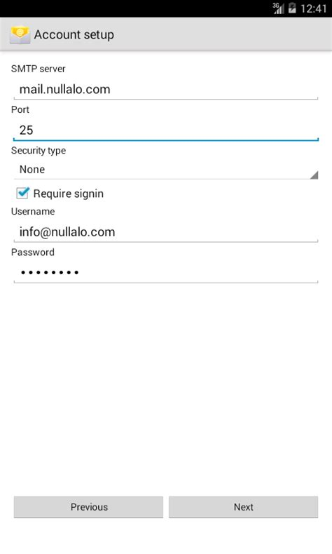android mail how to configure an email account on android nullalo