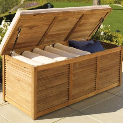 louvered teak trunk storage chest outdoor  images