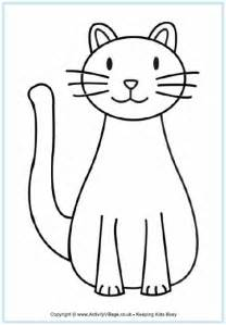 template of cat cat coloring page