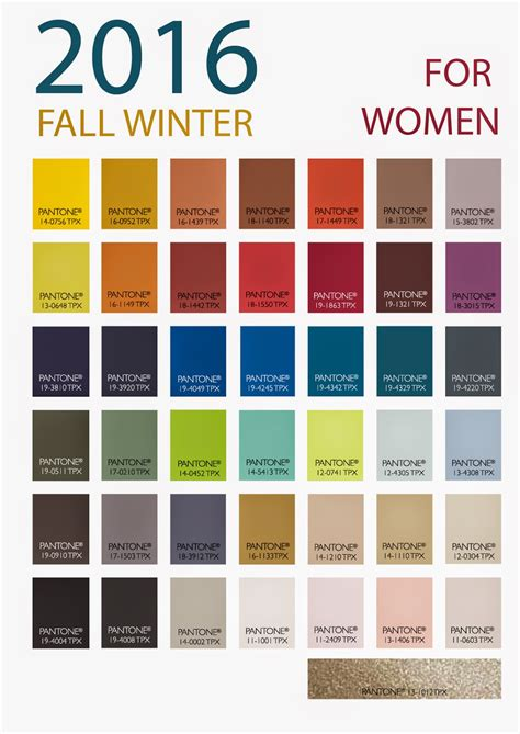color forecast patone s winter 2016 women s color forecast from store