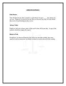 jury duty letter letter of recommendation