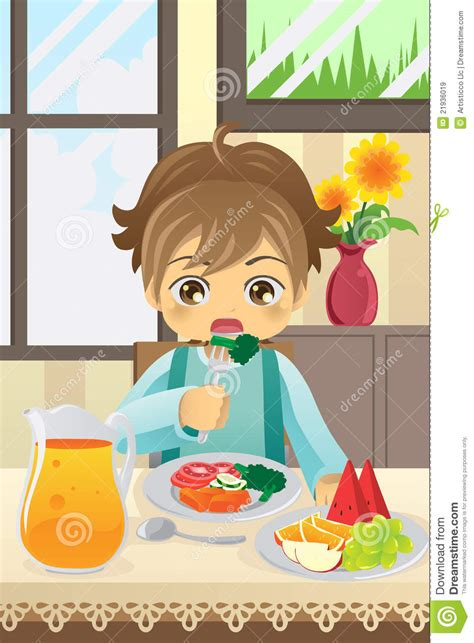 fruit y nada boy vegetables stock vector illustration of room