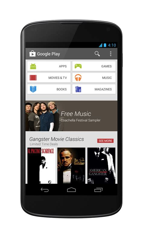 play for android official android a fresh new look for play