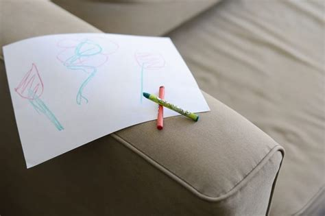 how to get crayon off couch how to remove crayon from a couch with pictures ehow