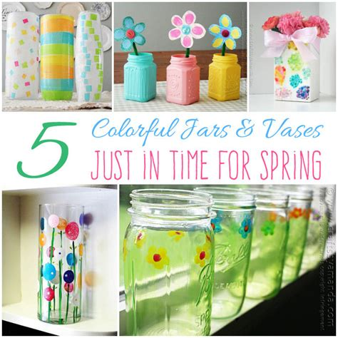 colorful jars 5 colorful jars vases containers