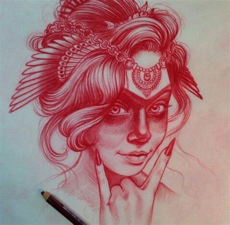 tattoo girl sketch jason minauro sketches drawing tattoo girl tattoos