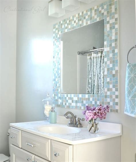 border around bathroom mirror 29 ideas to use all 4 bahtroom border tile types digsdigs